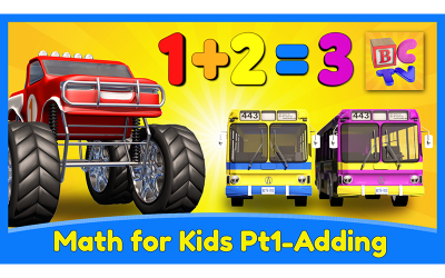 Learn Math for Kids | Adding with Monster Trucks