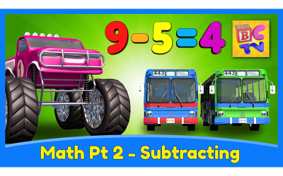 Learn Math for Kids | Subtracting with Monster Trucks