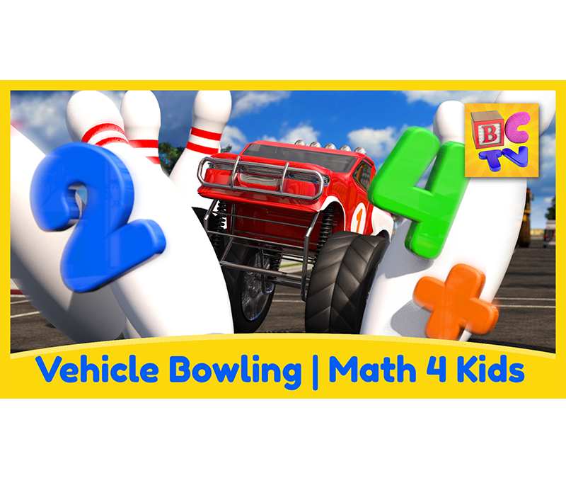 Math for Kids – Vehicle Bowling