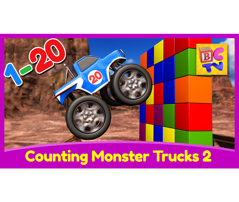 Counting Monster Trucks 2 | Learn to Count to 20