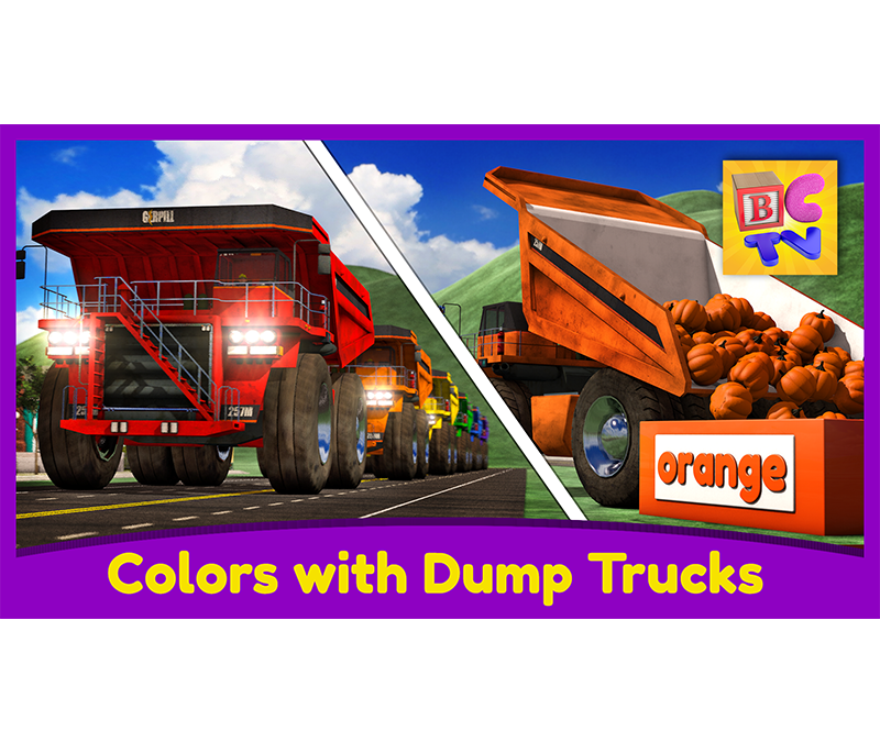 Learn Colors with Dump Trucks | Part 1
