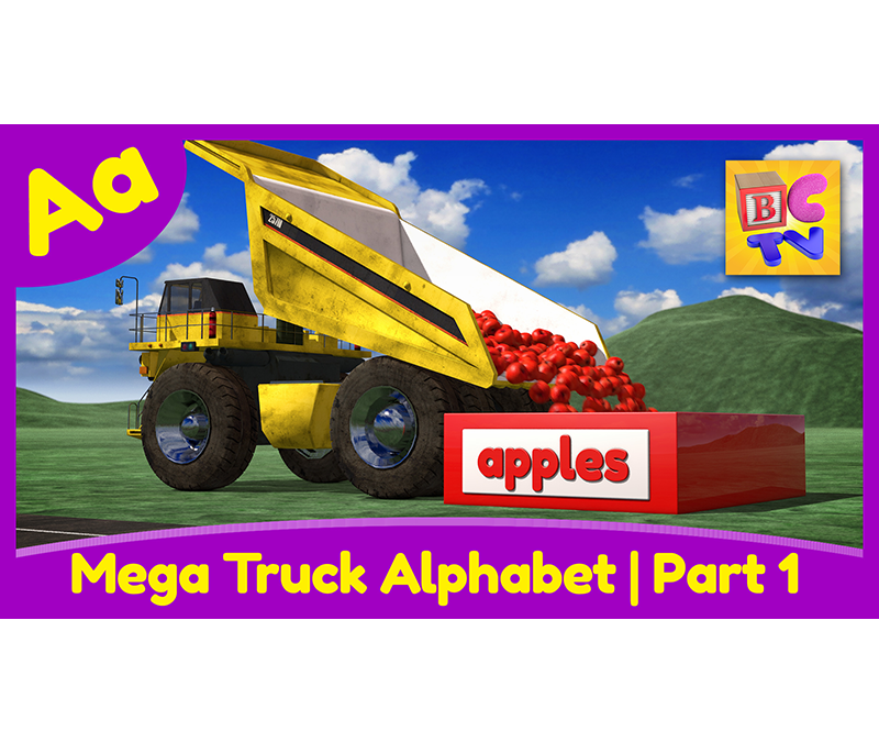 Mega Truck Alphabet Part 1 | A