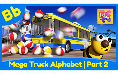 Mega Truck Alphabet Part 2 | B
