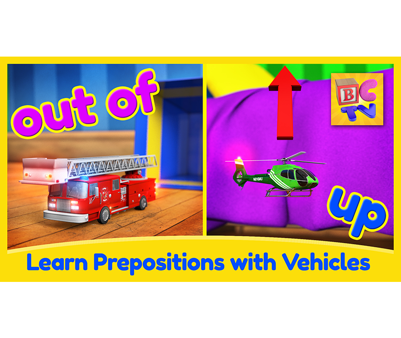 Learn English Prepositions with Fun Vehicles