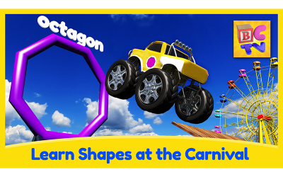 Learn Shapes with Monster Trucks and Carnival Game for Kids