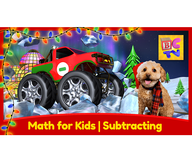 Learn Math with Monster Trucks for Kids | Subtracting – Christmas Edition